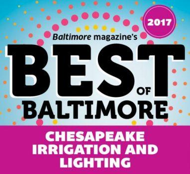 "Chesapeake Nabs ""Best Sprinkler Systems"" Honor from Baltimore Magazine"