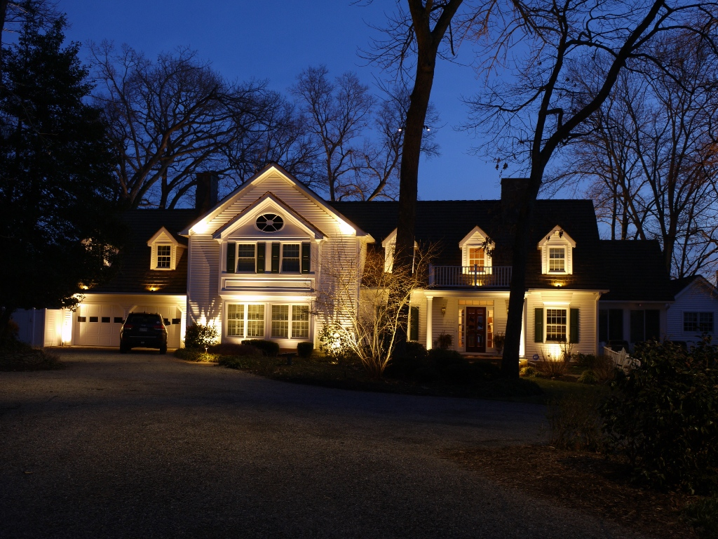 Exterior House Lighting by Chesapeake Irrigation & Lighting